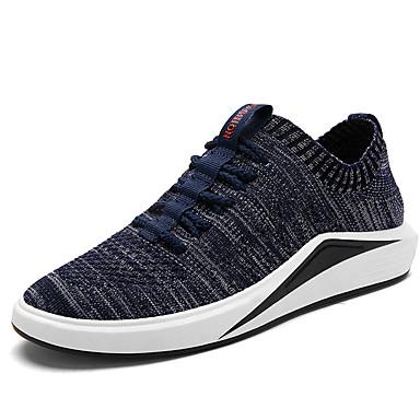 Herrn Schuhe Stoff Frühling / Sommer Komfort / Leuchtende Sohlen Sneakers Schwarz / Grau / Blau