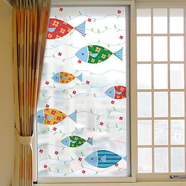 Animal Moderna Adesivo de Janela, PVC/Vinil Material Decoração de janela Sala de Jantar Quarto Escritório Quarto das Crianças Sala de