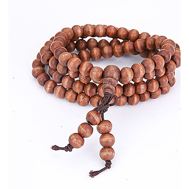 Strang-Armbänder / Wickelarmbänder / Mala Perlen Armband - Natur, Modisch Armbänder Braun Für Besondere Anlässe / Geschenk