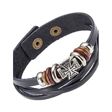 Pánské Šperky Kožené náramky - Kožené Černá
