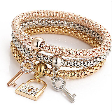 Mulheres Diamante sintético Pulseiras em Correntes e Ligações / Bracelete - Natureza, Amizade Pulseiras Dourado Para Presentes de Natal /