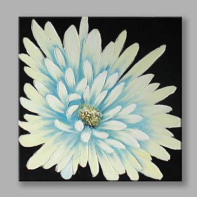 Pintados à mão Floral/Botânico Quadrada, Flor Moderno/Contemporâneo Tela de pintura Pintura a Óleo Decoração para casa 1 Painel