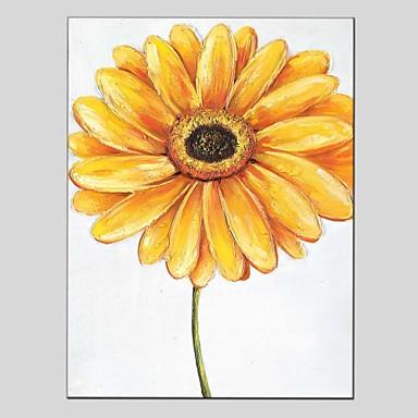 Ručně malované Květinový/Botanický motiv Vertikální panoramatické, Klasické Moderní Plátno Hang-malované olejomalba Home dekorace Jeden