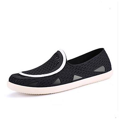 Miehet Sandaalit PVC Kesä Tasapohja Musta Tasapohja