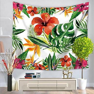 Blumen Wand-Dekor 100% Polyester Mit Mustern / Natur inspirierter Stil Wandkunst, Wandteppiche Dekoration