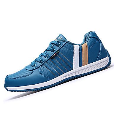 Herrn Schuhe PU Frühling Herbst Komfort Sportschuhe Schnürsenkel für Draussen Schwarz Blau