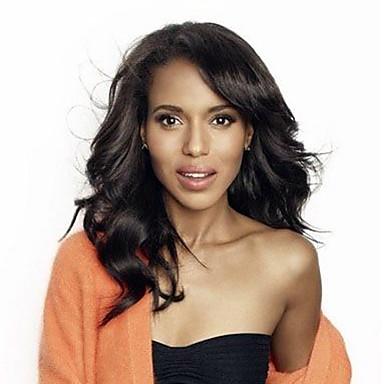 Přírodní vlasy Se síťovanou přední částí Paruka Volné vlny 180% Hustota 100% ručně vázaná Afroamerická paruka Přírodní vlasová linie