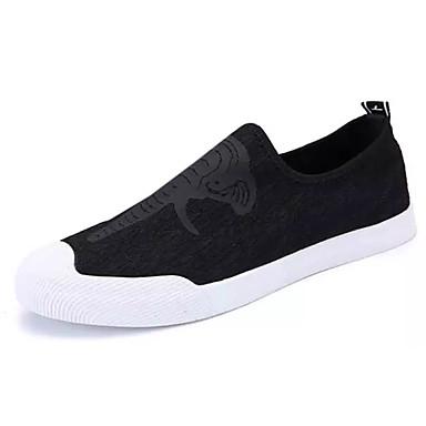 Homens sapatos Couro Ecológico Primavera Outono Conforto Mocassins e Slip-Ons para Atlético Ao ar livre Preto