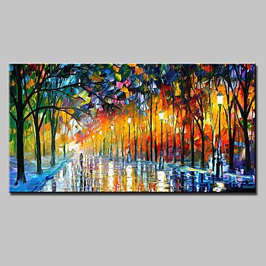 preiswerte Wand- & Ölbilder-mintura® großes handgemaltes Messer Landschaft Ölgemälde auf Leinwand moderne abstrakte Wandkunst Bilder für Heimtextilien bereit zu hängen