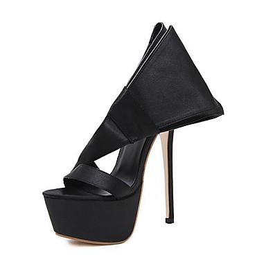Mulheres Sapatos Seda Verão Outono Conforto Inovador Solados com Luzes Sandálias Salto Agulha Flor para Casamento Casual Ao ar livre