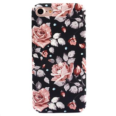 Capinha Para Apple iPhone 8 iPhone 8 Plus Estampada Capa traseira Flor Rígida PC para iPhone 8 Plus iPhone 8 iPhone 7 Plus iPhone 7