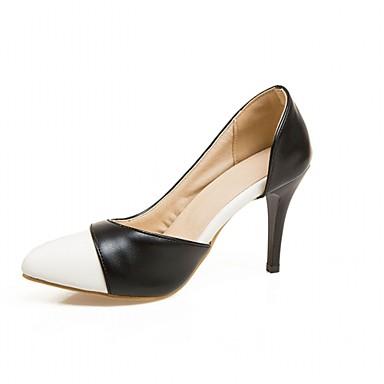 Mulheres Sapatos Couro Ecológico Primavera Verão Conforto Inovador Saltos Salto Agulha Dedo Apontado Combinação para Casual Social