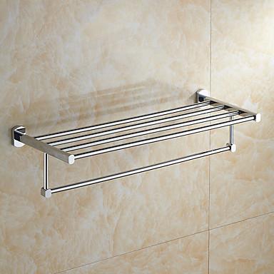 Prateleira de Banheiro Modern Metal 1 Pça. - Banho do hotel Casal (L200 cm x C200 cm) Montagem de Parede