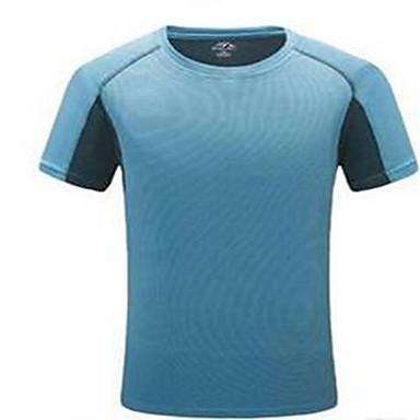 Homens / Mulheres Camiseta de Corrida - Azul Escuro, Cinzento, Amarelo Terra Esportes Camisa / Blusas Exercício e Atividade Física,