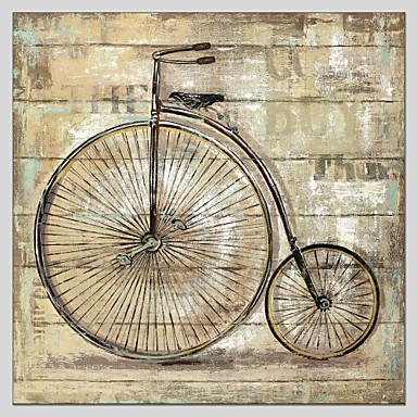 Fritid Abstrakt, En panel Duk Fyrkantig Tryck väggdekor Hem-dekoration