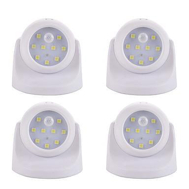 4pcs LED Night Light Battery Smart / Human Body Sensor