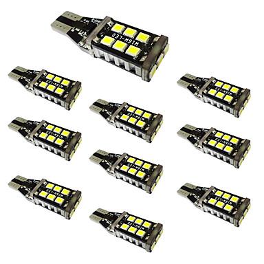 10ks w16w t15 2835 15smd vysokoúčinné dekódovací zpětné světlo s konstantním proudem ic 6000k dc12v-24v