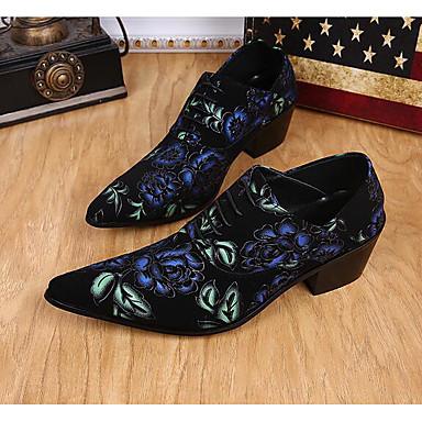 Miehet kengät Nahka Kevät Comfort Oxford-kengät Käyttötarkoitus Kausaliteetti Musta