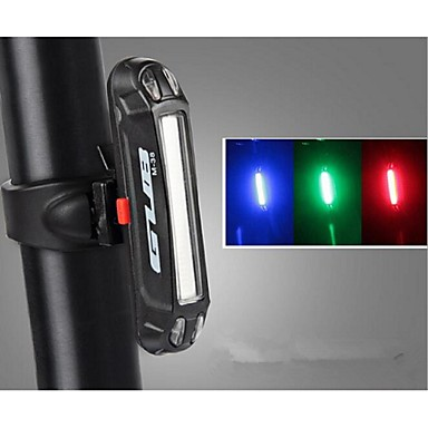 Rear Bike Light / Safety Light / Tail Light LED Bike Light LED Cycling Outdoor, Water Resistant, LED Light USB / Lithium Battery 100 lm USB Color-changing / Red / Blue Cycling / Bike / IPX-4