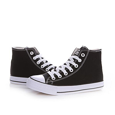 Damen Schuhe Leinwand Frühling Komfort paar Schuhe Sneakers Für Normal Schwarz Schwarz/weiss Rot/Weiß