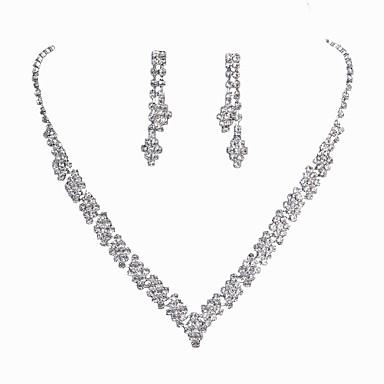 Mulheres Conjunto de jóias - Clássico, Fashion Incluir Sets nupcial Jóias Prata Para Casamento / Festa / Ocasião Especial / Noivado