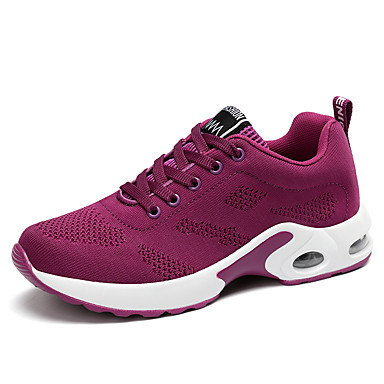 Mulheres Sapatos de Dança Moderna Sapatilha / Têni Salto Robusto Não Personalizável Sapatos de Dança Roxo / Vermelho / Rosa claro