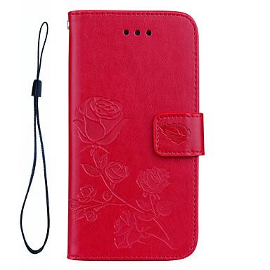 Capinha Para Apple iPhone 7 Plus iPhone 7 Porta-Cartão Carteira Antichoque Com Suporte Flip Estampada Com Relevo Capa Proteção Completa