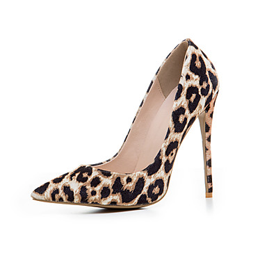 Damen Schuhe Echtes Leder Sommer Herbst Pumps High Heels Spitze Zehe Für Normal Leopard Farbbildschirm