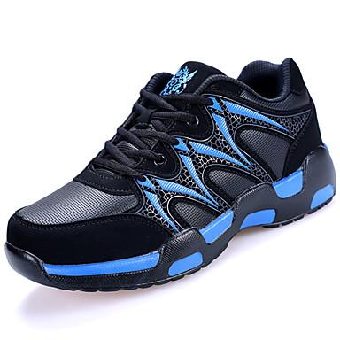 Miesten kengät PU Kevät Kesä Comfort Urheilukengät Kävely varten Urheilullinen Musta Sininen