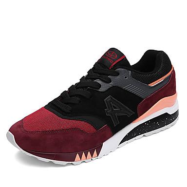 Herren Schuhe Tüll Sommer Herbst Komfort Knöchelriemen Sneakers Für Normal Schwarz Dunkelblau Grau Schwarz/Rot