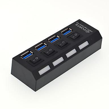 4 Hub USB USB 3.0 USB 3.0 Com Switch (es) Hub de dados