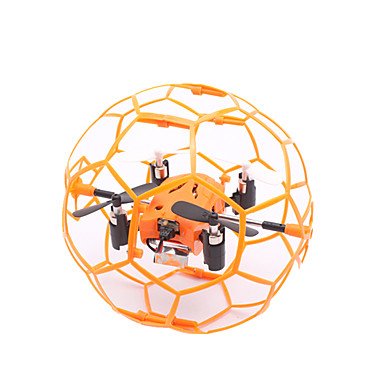 RC Drone TKKJ M70 4 Channel 6 Axis 2.4G RC Quadcopter LED Lights / 360°Rolling / Hover RC Quadcopter / Remote Controller / Transmmitter / 1 Charging Station