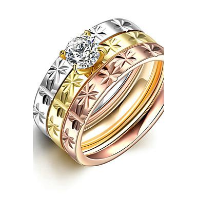 Dámské Široké prsteny Prsten Zásnubní prsten Módní minimalistický styl Pro nevěstu Titanová ocel Kulatý Šperky Vánoční dárky Svatební
