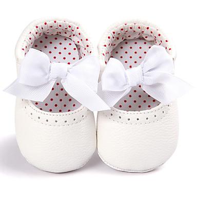 Para Meninas Sapatos Couro Ecológico Primavera & Outono Conforto / Primeiros Passos / Sapatos de Berço Mocassins e Slip-Ons Laço para