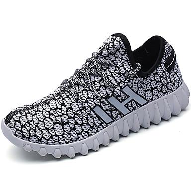 Homens sapatos Tule Verão Conforto Tênis Caminhada Combinação para Casual Preto Branco/Preto Preto/Vermelho Khaki