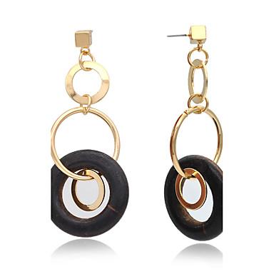 Tropfen-Ohrringe Kreolen Ohrring Modisch Kupfer 24K Plated Gold Kreisform Schmuck FürHochzeit Party Besondere Anlässe Halloween