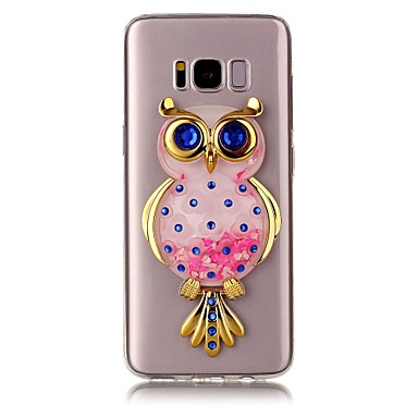 Capinha Para Samsung Galaxy S8 Plus S8 Liquido Flutuante Transparente Estampada Faça Você Mesmo Capa traseira Glitter Brilhante Corujas