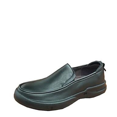 Herren Schuhe Leder Frühling Sommer Komfort Loafers & Slip-Ons Für Normal Schwarz Braun