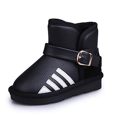 Mädchen Schuhe Kunststoff Winter Herbst Komfort Springerstiefel Stiefel Quaste Für Normal Schwarz Rot