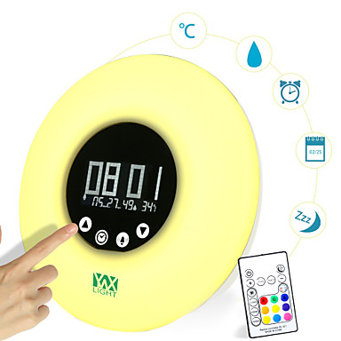 YWXLIGHT® 1conjunto LED Night Light USB Smart Controlado remotamente Regulável Sem Fio Cores Variáveis