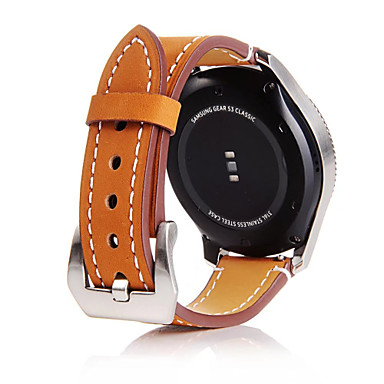 Watch Band for Gear S3 Frontier Gear S3 Classic Gear S3 Classic LTE Samsung Galaxy Classic Buckle Genuine Leather Wrist Strap
