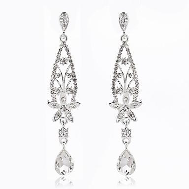 Damen Tropfen-Ohrringe - Klassisch Modisch Silber Ohrringe Für Hochzeit Party Besondere Anlässe Verlobung
