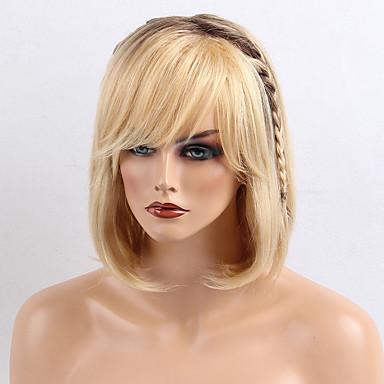 Krásná mladistvý gradient barva přírodní rovný bob účes vlasy vlasy paruky
