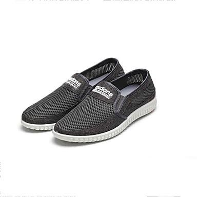 Homens sapatos Tecido Tule Primavera Verão Conforto Mocassins e Slip-Ons Caminhada Combinação para Casual Escritório e Carreira Cinzento