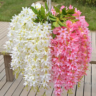1 Ramo Plástico Violeta Flor de Mesa Flores artificiais