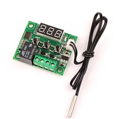 tanie Sprzet i akcesoria elektryczne-12v dc cyfrowy chłodzenie / ogrzewanie termostatu tempat kontrola -50-110 c regulator temperatury 10a przekaźnik z wodoodporną sondą