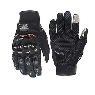 tanie Motoryzacja-pro-biker unisex rękawice motocyklowe z włókna węglowego rowerowe rękawice wyścigowe motocyklowe pełne rękawice antypoślizgowe