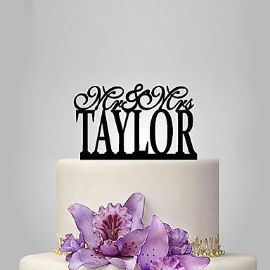 Kakkukoristeet Klassinen teema Wedding Muovi Häät kanssa 1 Muovipussi