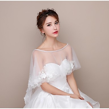 Lace / Tulle Wedding Women's Wrap With Capelets
