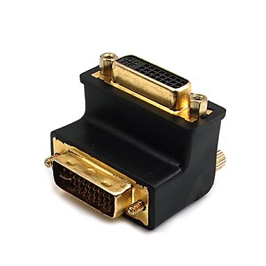 DVI Adapteri, DVI to DVI Adapteri Uros - Naaras 1080P Kullattu kupari 1.0 Gbps